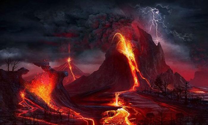 Siêu núi lửa phun trào