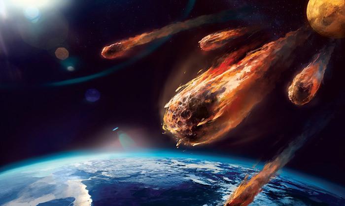 Thiên thạch va chạm khiến Trái đất vỡ vụn