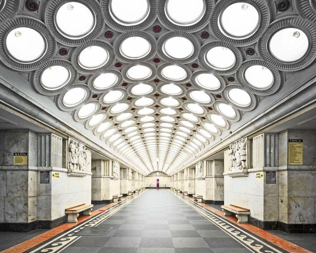 Ga Elektrozavodskaya: Hệ thống tàu điện ngầm ở Moscow mở cửa từ năm 1935. Ga Elektrozavodskaya có trần được thiết kế độc đáo, ấn tượng.