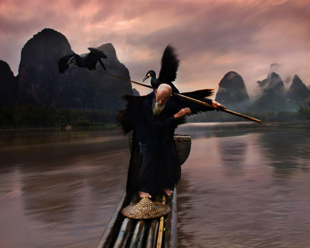 Lão ngư trên sông Lý, Trung Quốc
