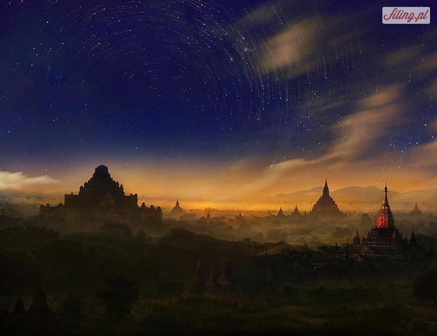 Xứ sở có hàng nghìn ngôi chùa tại Bagan, Myanmar huyền ảo trong ráng chiều.
