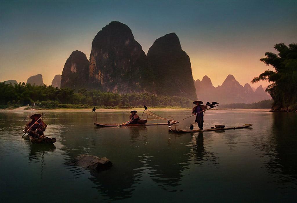 Khung cảnh nên thơ trên sống Lý, Trung Quốc