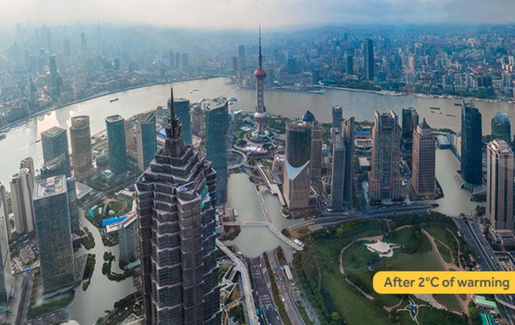 Thượng Hải tăng 2 độ C
