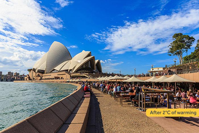 Sydney tăng 2 độ C