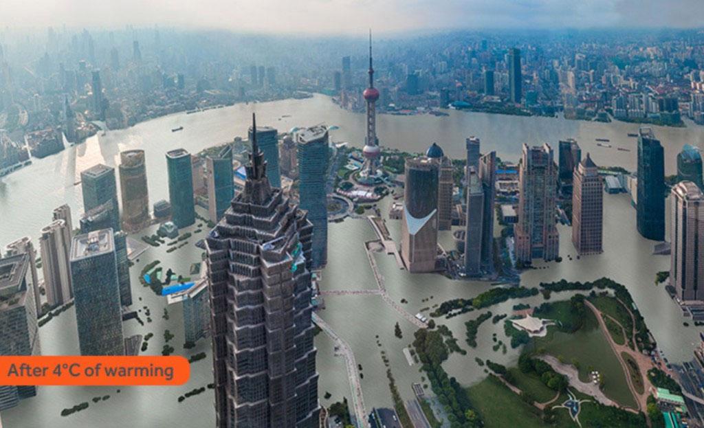 Thượng Hải tăng 4 độ C