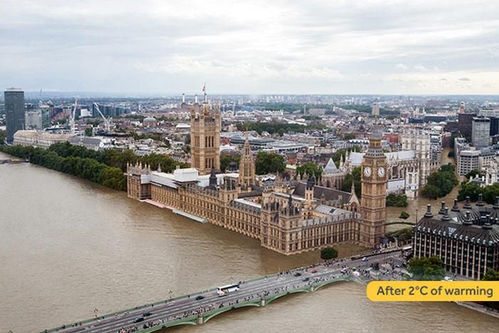 London tăng 2 độ C