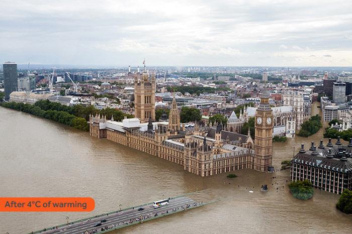 London tăng 4 độ C