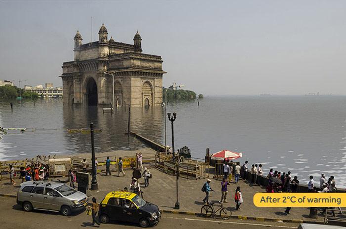 Mumbai tăng 2 độ C