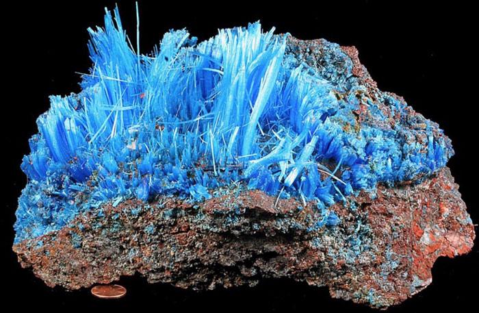 Tinh thể Chalcanthite - CuSO4·5H2O