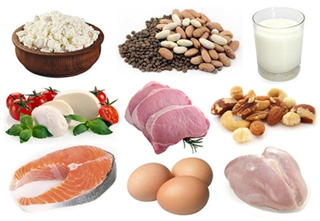 Thực phẩm giàu protein có trong thịt, cá, đậu, các loại hạt mầm và quả hạch.