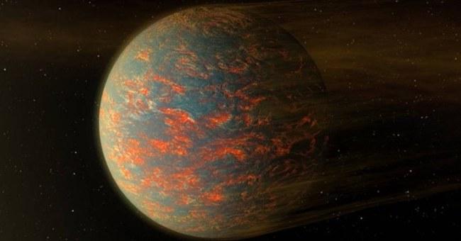 Hình minh họa của NASA về nhiệt độ trên hành tinh 55 Cancri e