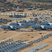 Nghĩa địa chiến đấu cơ lớn nhất thế giới từ ảnh Google Earth