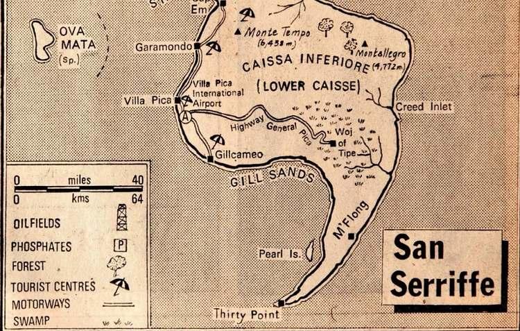 Năm 1977, báo Guardian (Anh) đã đăng một báo cáo đặc biệt dài 7 trang về San Serriffe, một quốc gia nhỏ bé nằm ở Ấn Độ Dương, gồm vài hòn đảo hợp thành hình dấu chấm phẩy.