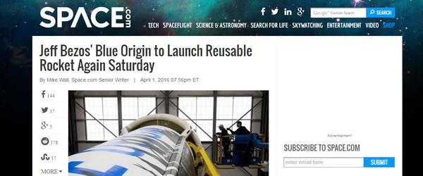 Blue Origin đã tiết lộ về lần phóng này trước khi sự kiện diễn ra.