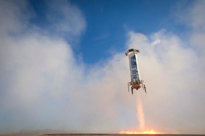 Tên lửa New Shepard của Jeff Bezos và cơ quan vũ trụ Blue Origin.