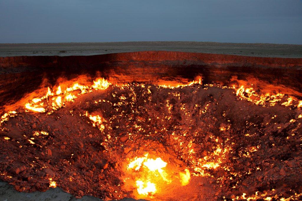 Cổng địa ngục ở Turkmenistan.