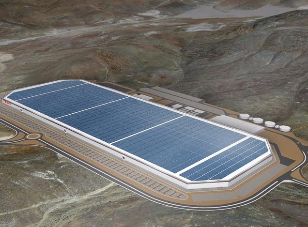 Bản mẫu thiết kế của nhà máy Gigafactory.