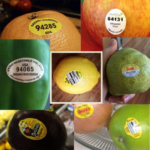 Trái cây có mã code bắt đầu với số 9 - 100% hữu cơ không sử dụng chất hóa học.