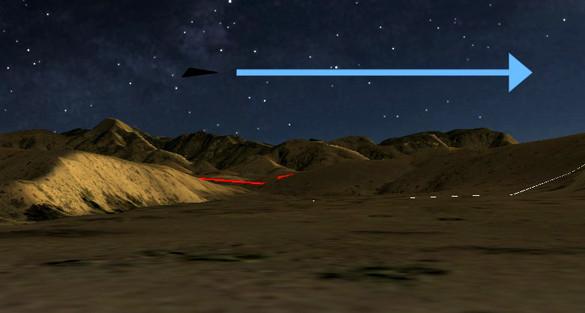 UFO có hình tam giác đen.