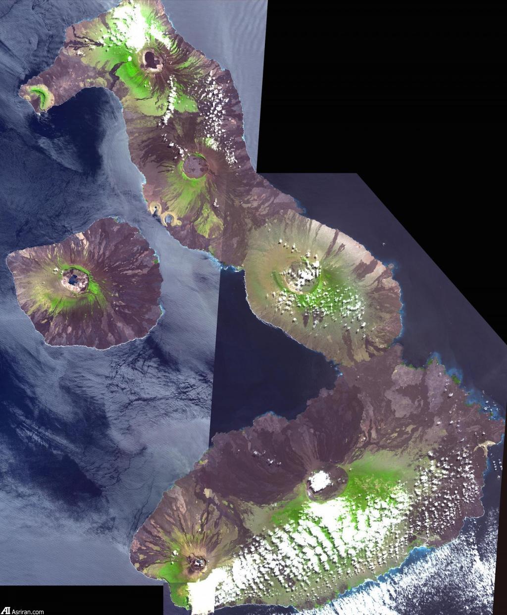 Những ngọn núi lửa đẩy quần đảo Galapagos ra phía ngoài Thái Bình Dương.