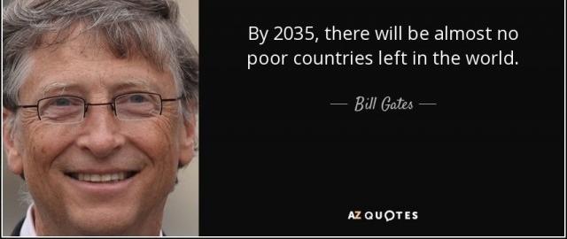 Theo Bill Gates, năm 2035 gần như không có nước nghèo trên thế giới.