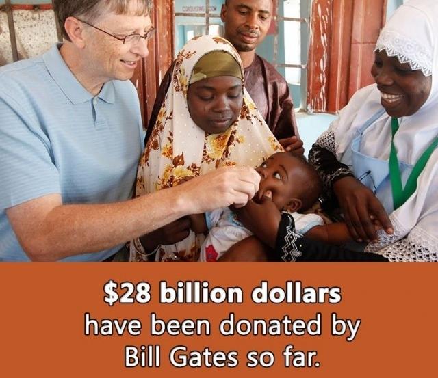 28 tỷ USD đã được quyên góp bởi Bill Gates cho đến nay