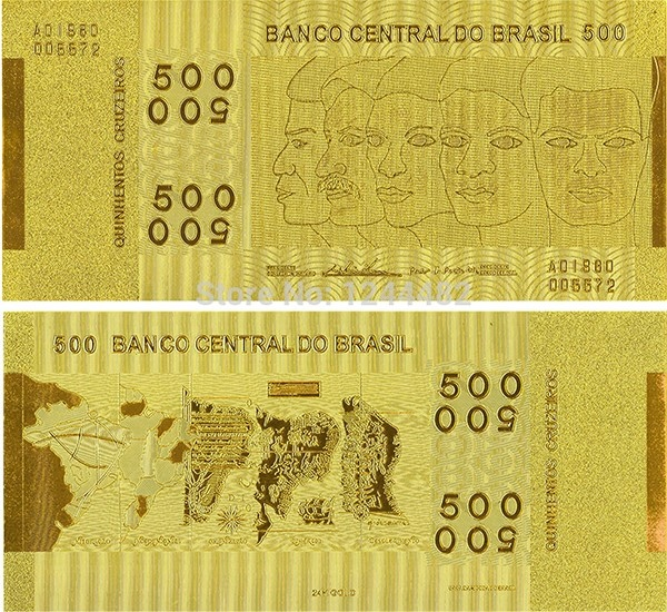 Đồng 500 cruzeiro Brazil