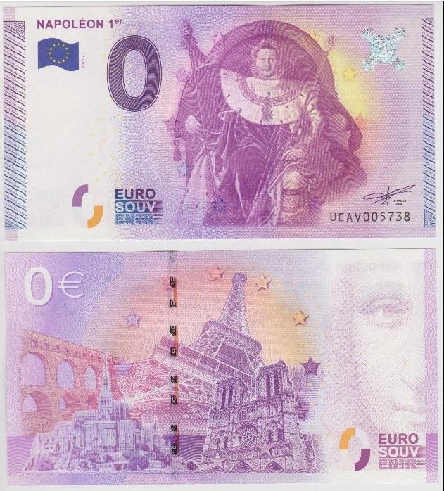 Đồng 0 euro in hình Napoleon