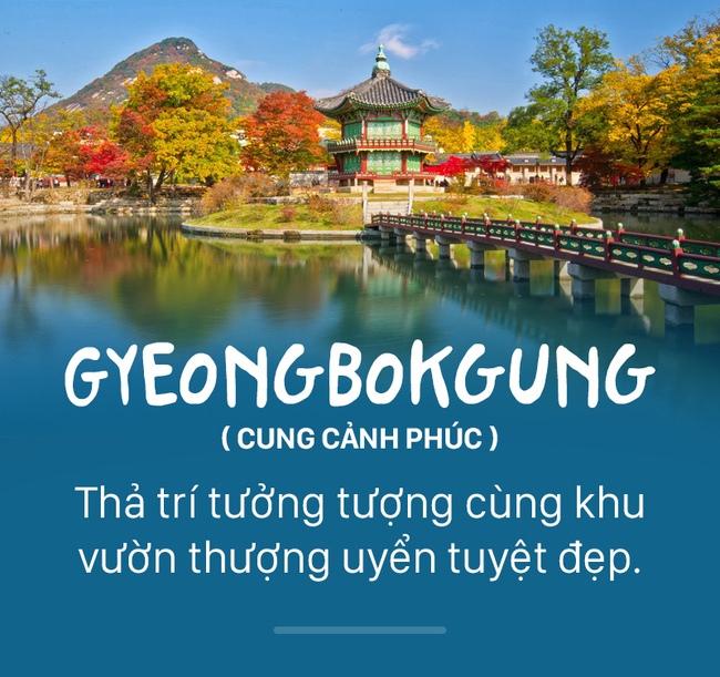 Gyeongbokgung là cung điện nổi tiếng nhất Seoul.