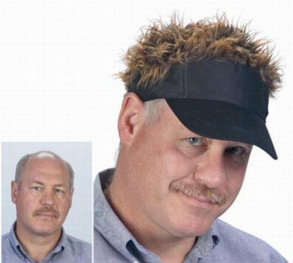 Chiếc mũ gắn tóc giả dành cho những người bị hói.