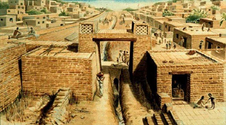 Những tường thành của văn hóa Harappa.
