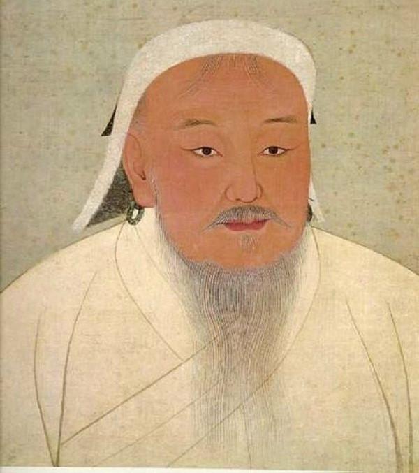 Tranh chân dung Thành Cát Tư Hãn ở Bảo tàng Cố cung tại Đài Loan.