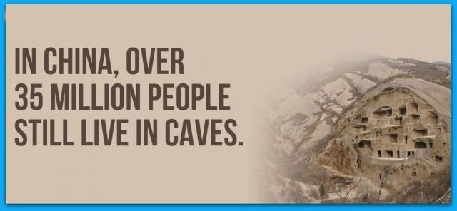 Ở Trung Quốc, hơn 35 triệu người vẫn sống trong các hang động.