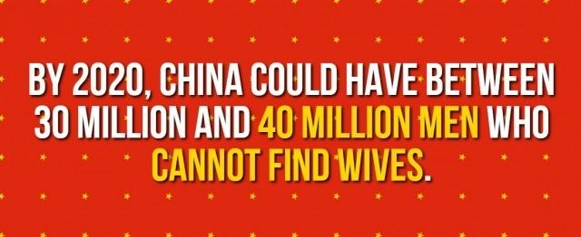 Đến năm 2020, Trung Quốc có thể có khoảng 30-40 triệu người người không thể tìm thấy vợ.