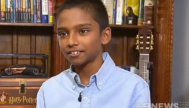 Nhờ chỉ số IQ lên tới 168, Sharvin đã được coi là cậu bé thông minh nhất nước Úc.