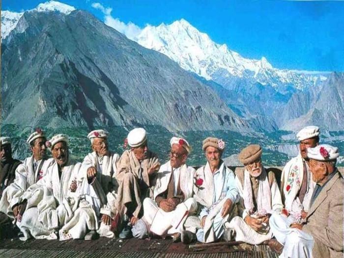 Những cư dân của bộ lạc Hunzas.