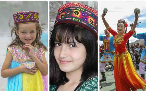 Những bé gái xinh đẹp của vùng đất Hunzas.