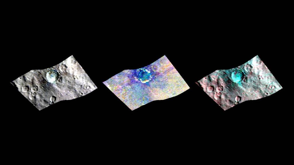 Tàu vũ trụ Dawn của NASA sử dụng bản đồ phổ lập hồng ngoại (VIR) để quan sát tiểu hành tinh Ceres.