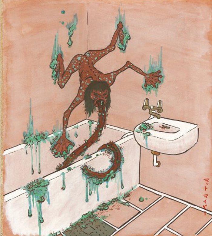 Quái vật thích liếm nhà tắm