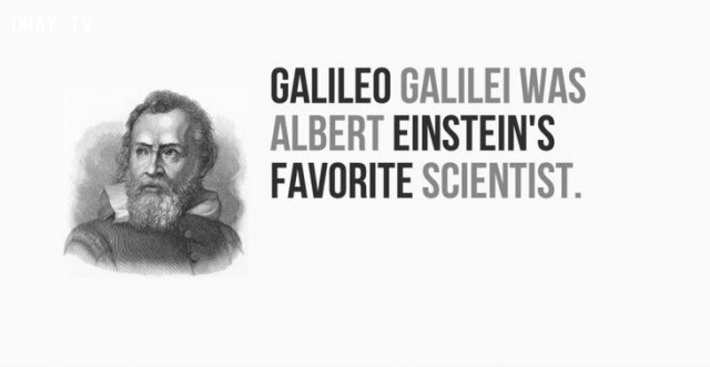 Galileo Galilei là nhà khoa học mà Albert Einstein yêu thích.