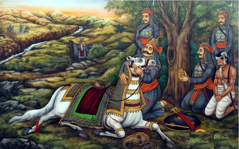 Chetak là một trong những chiến mã nổi tiếng thuộc sở hữu của vua Maharana Pratap.