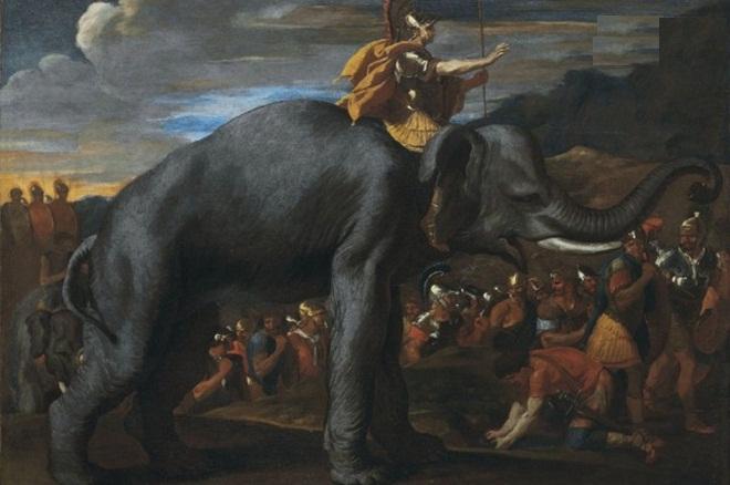"""Kỳ tích có """"1-0-2"""" trong lịch sử của danh tướng Hannibal và đoàn kỵ binh qua dãy núi Alps."""
