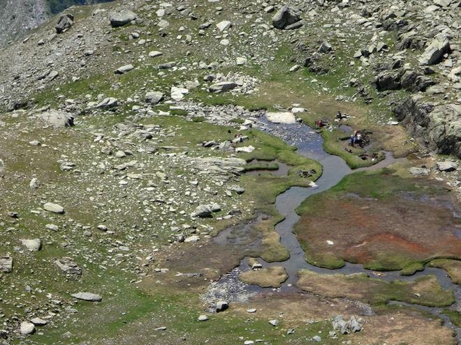 Những vũng lầy trên tuyến Traversette.