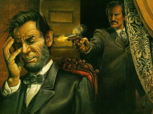 ổng thống Abraham Lincoln bị ám sát trong khi đang xem một vở kịch vào ngày 14 tháng 4 năm 1865.
