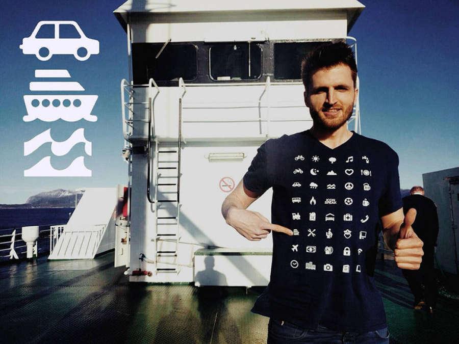 hiếc áo phông có tên là IconSpeak có thể nói ngôn ngữ quốc tế thay bạn
