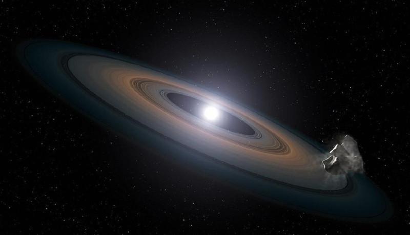 Hình ảnh những mảnh vụn được phát hiện xung quanh hai sao lùn trắng.