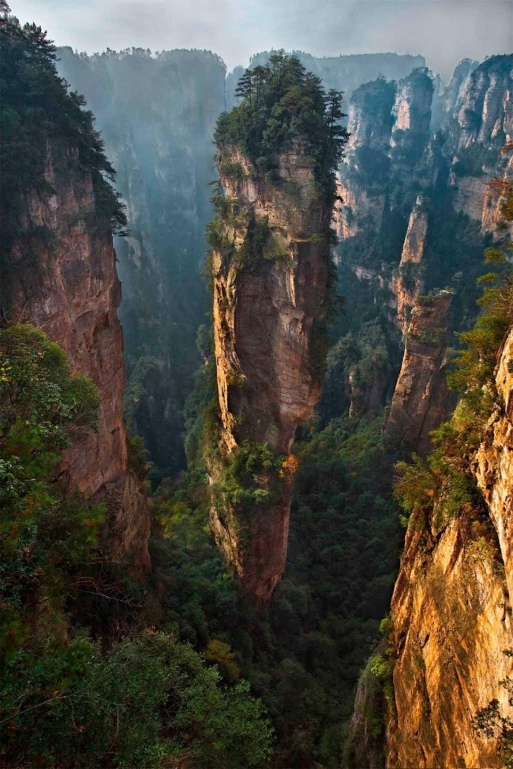 Vườn quốc gia Zhangjiajie ở Trung Quốc