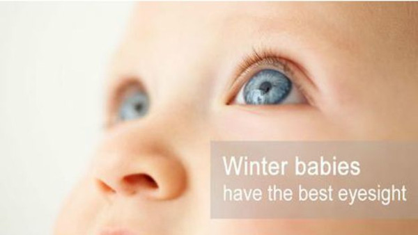 Những đứa trẻ sinh vào mùa đông thường có thị lực tốt
