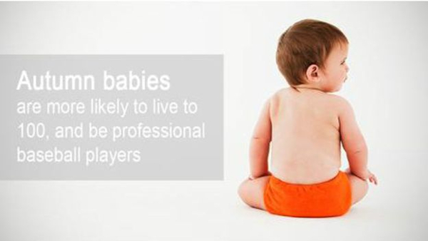 Những đứa trẻ sinh vào mùa thu có nhiều khả năng sống thọ đến 100 tuổi và trở thành những vận động viên bóng chày chuyên nghiệp