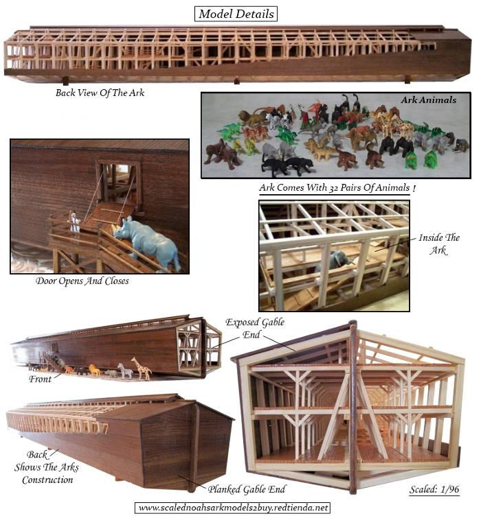 Sơ đồ thiết kế con thuyền của Noah.